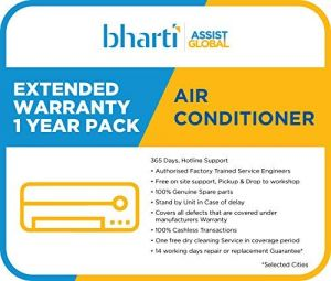 Bharti Assist 1 Year Extended Warranty for AC between Rs. 1 to Rs. 22000