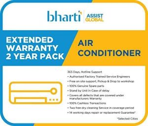Bharti Assist 2 Year Extended Warranty for AC between Rs. 1 to Rs. 22000