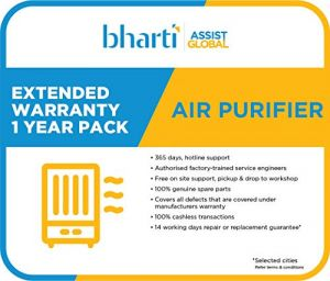 Bharti Assist 1 Year Extended Warranty for Air Purifier Between Rs. 1 to Rs. 10000