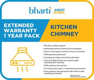 Bharti Assist 1 Year Extended Warranty for Chimney Between Rs. 40001 to Rs. 50000