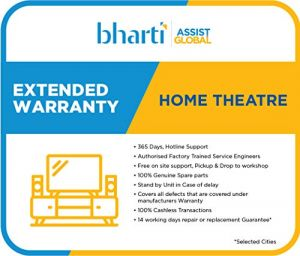 Bharti Assist 1 Year Extended Warranty for Home Theatre Between Rs.20001 to Rs.30000