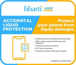 Bharti Assist Protect 1 year Accidental & liquid Damage Protection Plan for Mobile Between Rs. 20001 to Rs. 25000