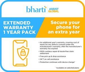 Bharti Assist Protect 1 year Extended Warranty Plan for Android Tablets Between Rs. 25001 to Rs. 30000
