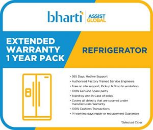 Bharti Assist 1 Year Extended Warranty for Refrigerator between Rs. 15001 to Rs. 20000