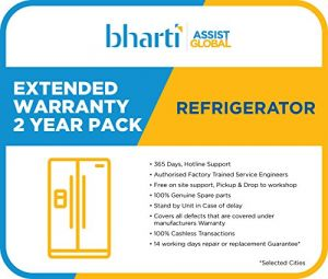 Bharti Assist 2 Year Extended Warranty for Refrigerator between Rs. 1 to Rs. 15000