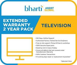 Bharti Assist 2 Year Extended Warranty for TV Rs.1 to Rs.18000