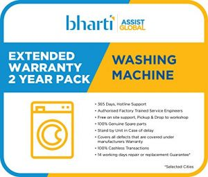 Bharti Assist 2 Year Extended Warranty for Washing Machine between Rs. 1 to Rs. 12000